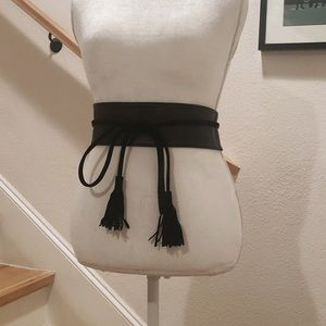 •black obi belt•